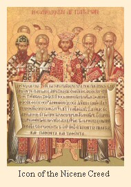 Byzantine icon of the Nicene Creed