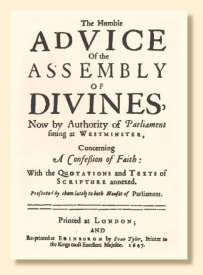 Title page of the first printed edition of the Westminster Confession, 1647